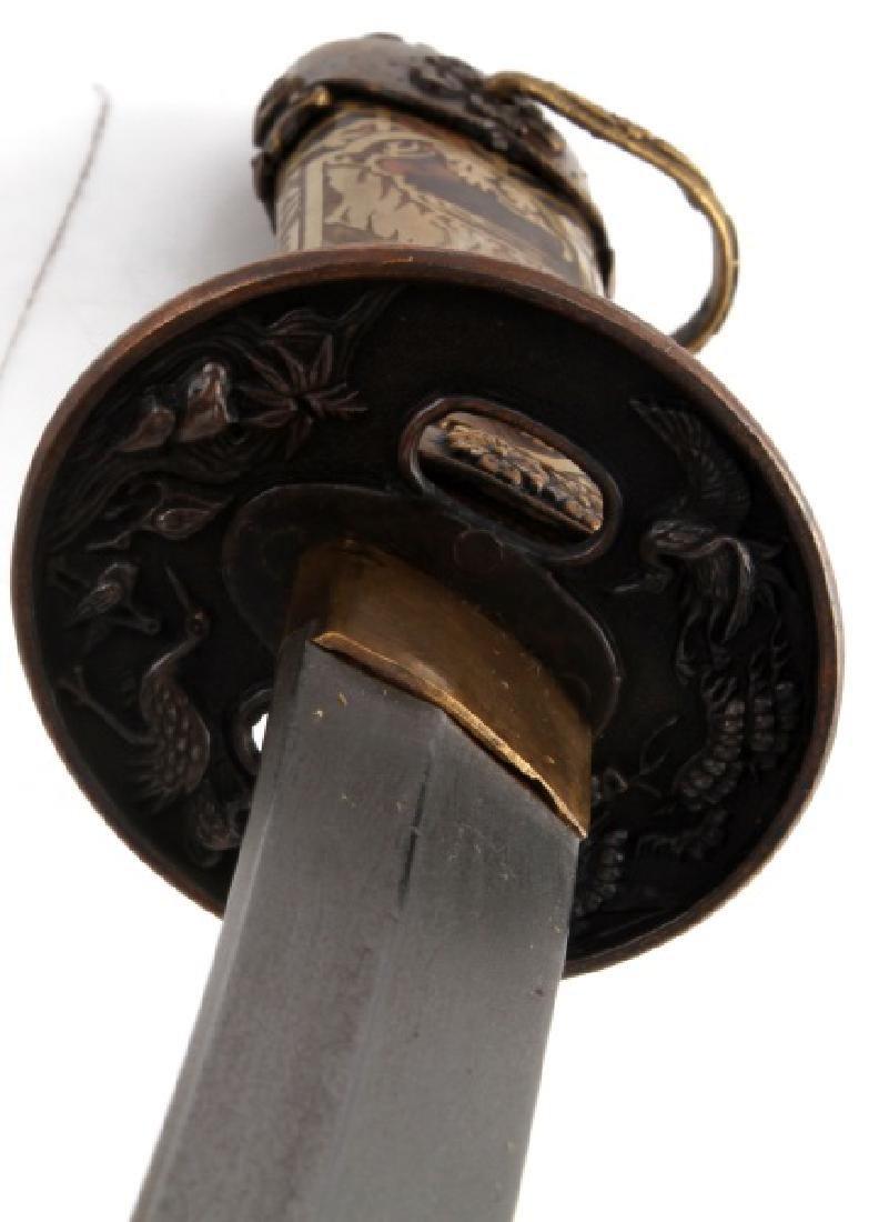 REPRODUCTION JAPANESE TANTO DAGGER SHORT SWORD - 7