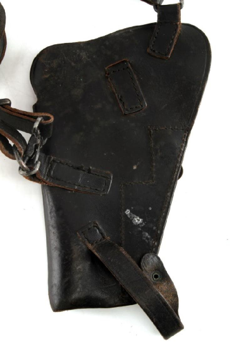 VINTAGE BLACK LEATHER GUN PISTOL HOLSTER LOT - 7