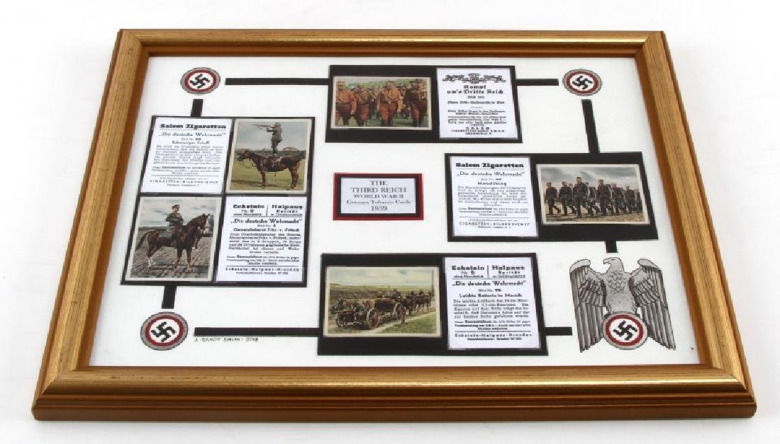 GERMAN WWII FRAMED TOBACCO CARDS PRESENTATION