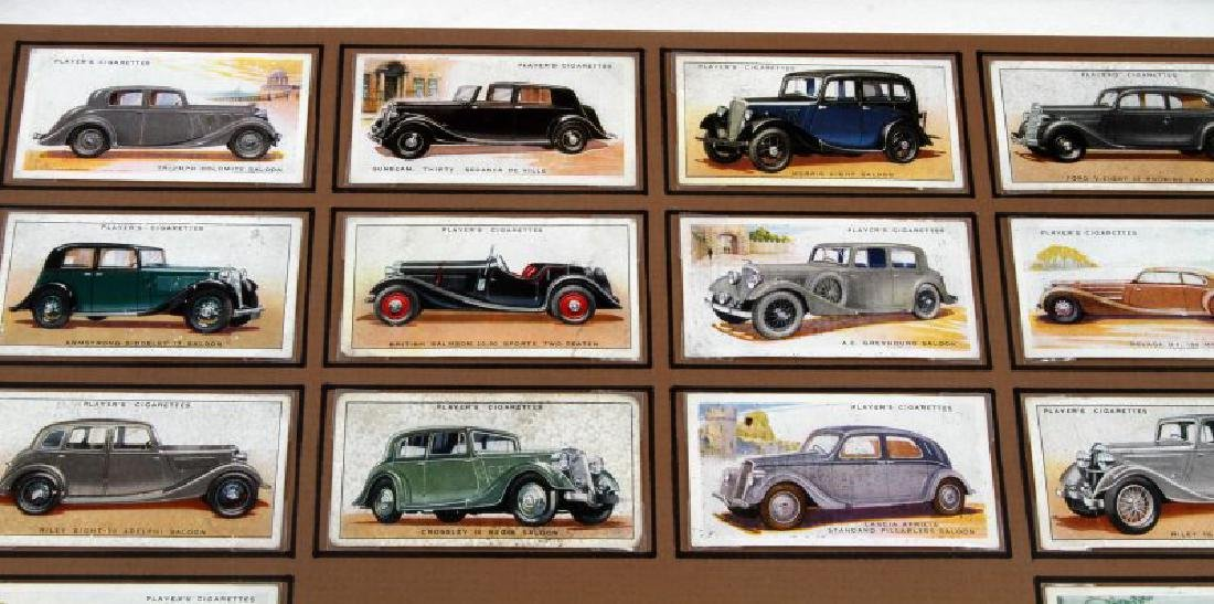 FRAMED BRITISH TOBACCO CARDS 1936  WWII MOTOR CARS - 2