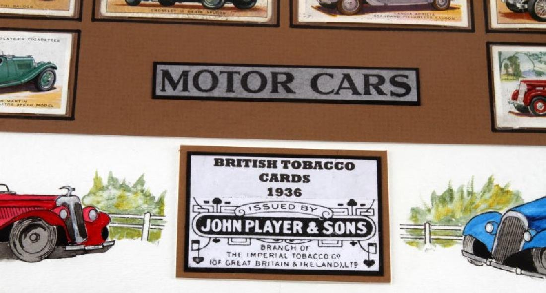 FRAMED BRITISH TOBACCO CARDS 1936  WWII MOTOR CARS - 3
