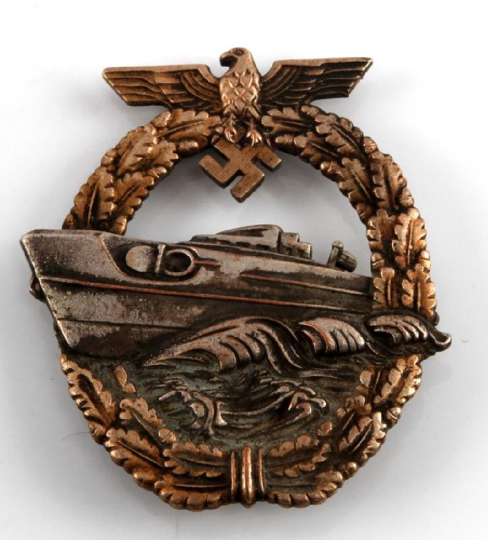 WWII GERMAN THIRD REICH NAVY E BOAT TYPE 2 BADGE