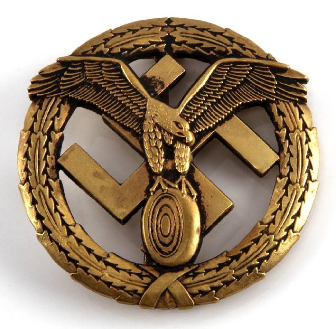 WWII GERMAN THIRD REICH GOLD NSKK MOTORSPORT BADGE