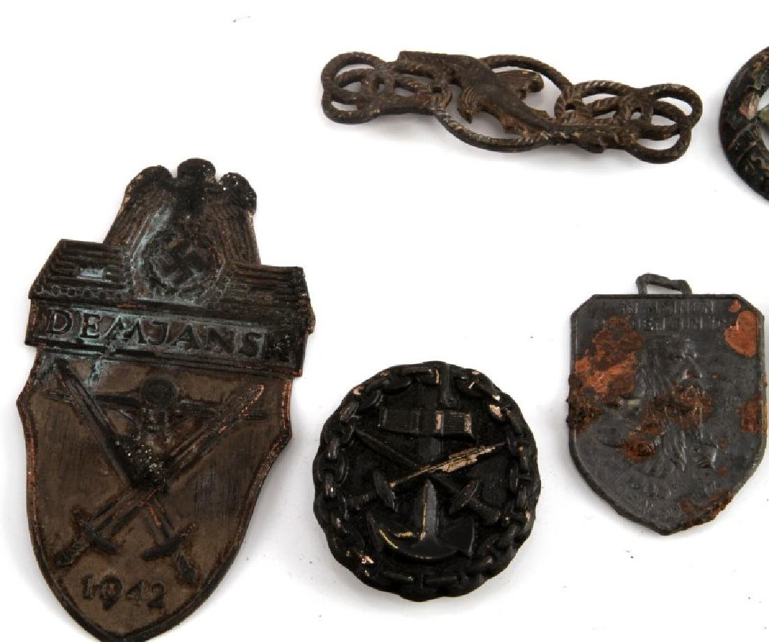 WWII GERMAN THIRD REICH ASSORTED BADGE AND PIN LOT - 2