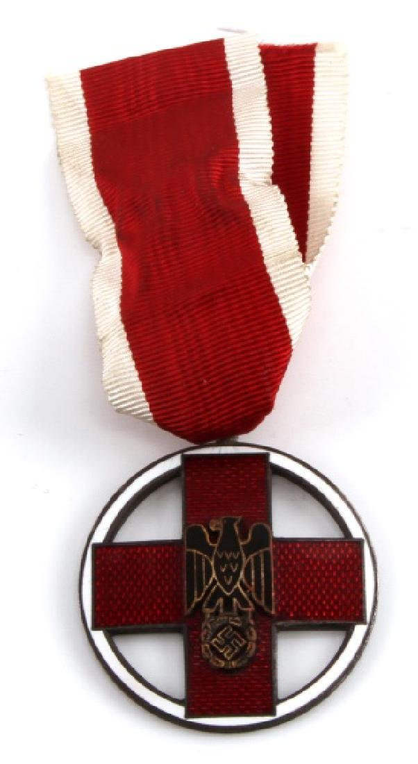WWII GERMAN THIRD REICH RED CROSS MEDAL W/ RIBBON