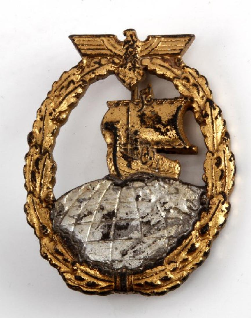 WWII GERMAN THIRD REICH AUXILIARY CRUISER BADGE