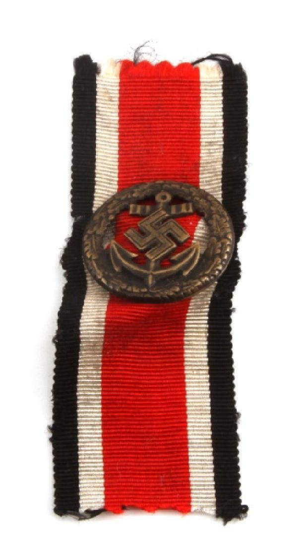 WWII GERMAN KRIEGSMARINE HONOR ROLL CLASP W RIBBON