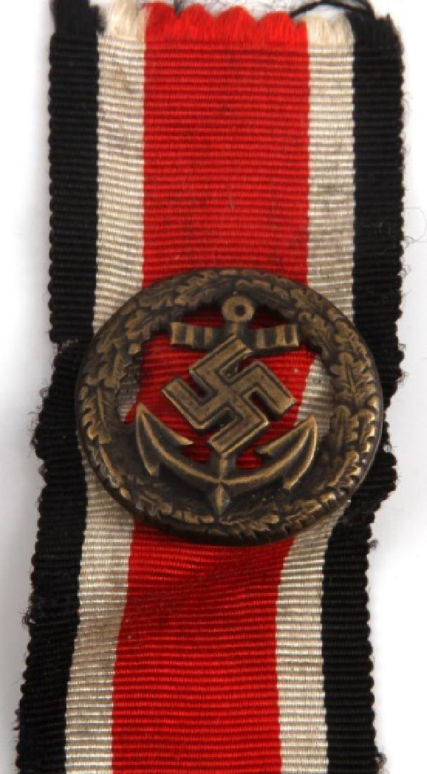 WWII GERMAN KRIEGSMARINE HONOR ROLL CLASP W RIBBON - 2