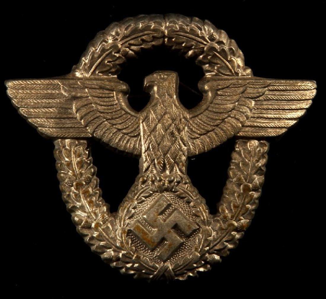 WWII GERMAN THIRD REICH POLICE CAP BADGE