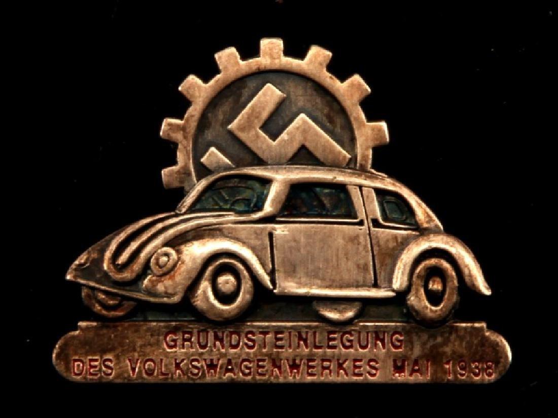 GERMAN THIRD REICH VOLKSWAGEN FACTORY WORKER PIN