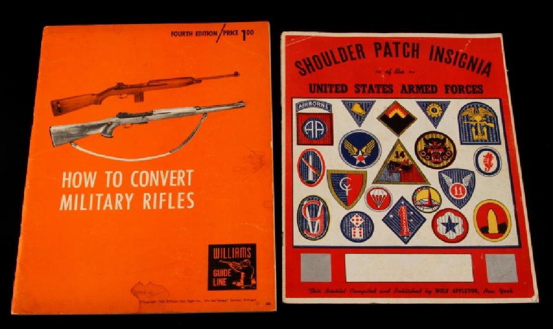 2 MILITARY BOOK LOT SHOULDER PATCH INSIGNIA ETC