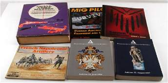 6 MILITARY EQUIPMENT BOOK LOT RUSSIAN FRENCH ETC
