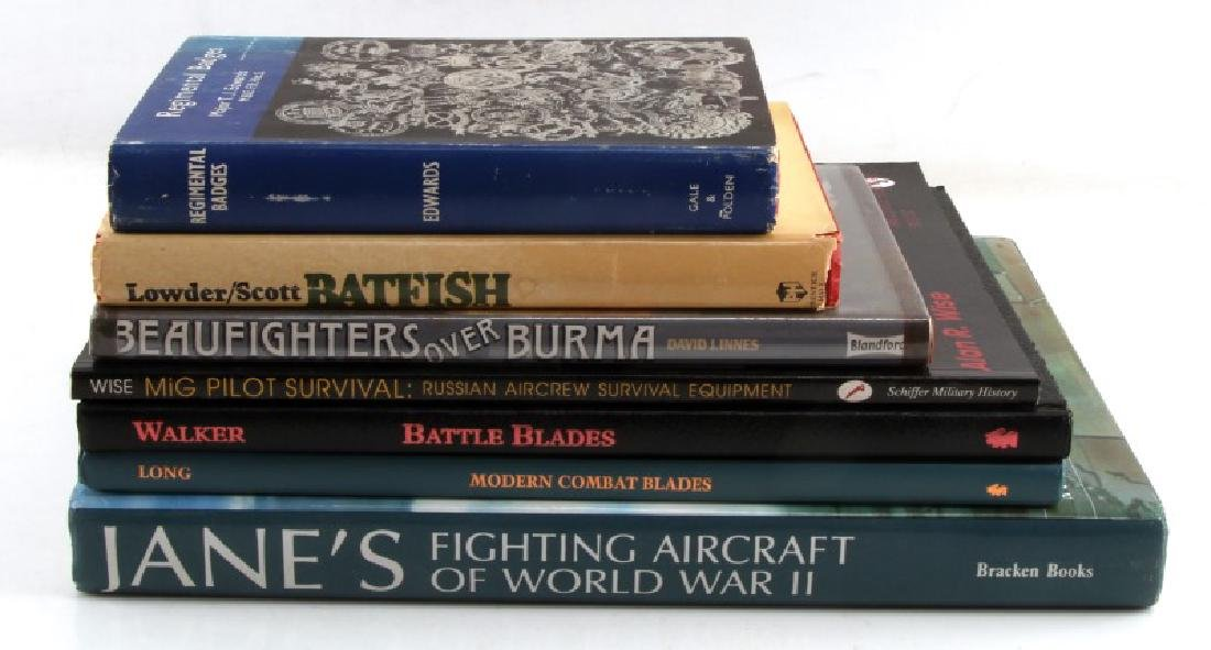 LARGE ASSORTED MILITARY BOOK LOT OF SEVEN
