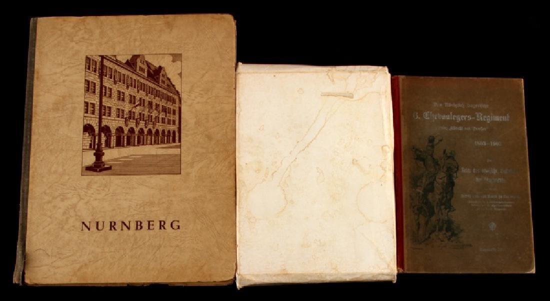 3 VINTAGE GERMAN MILITARY BOOK LOT NURNBERG ETC