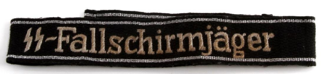 WWII GERMAN3RD REICH SS FALLSCHIRMJAGER CUFF TITLE