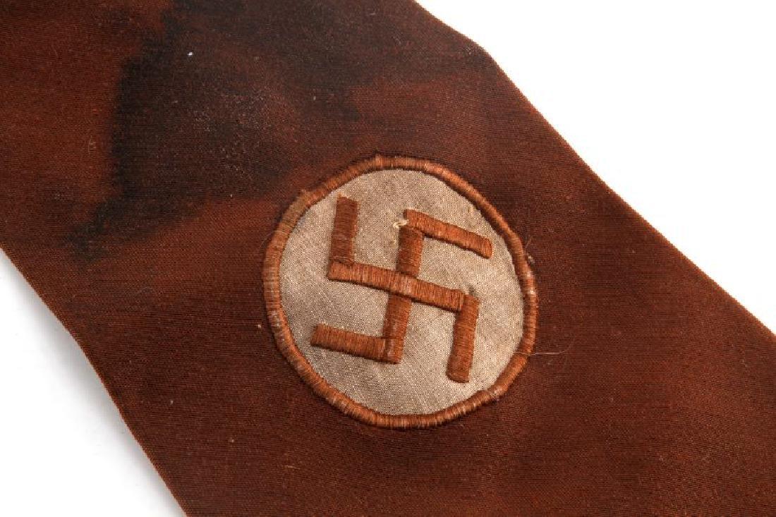 GERMAN THIRD REICH NSDAP SA SWASTIKA NECK TIE - 2