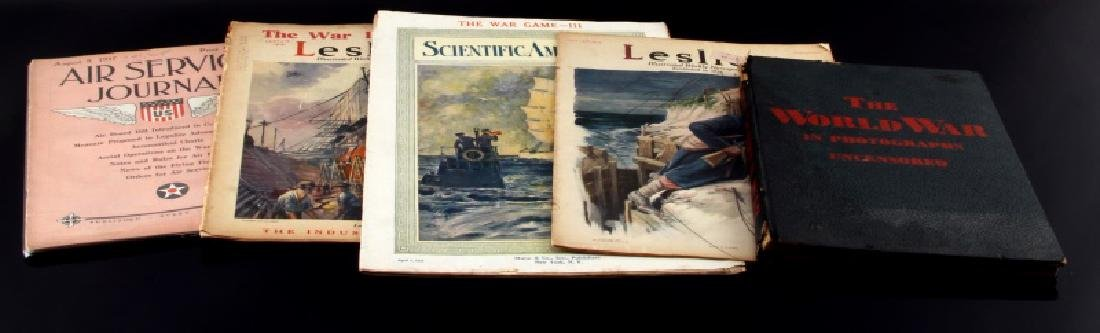 WWI MIXED LOT OF AMERICAN DOCUMENTS MAGAZINE MORE