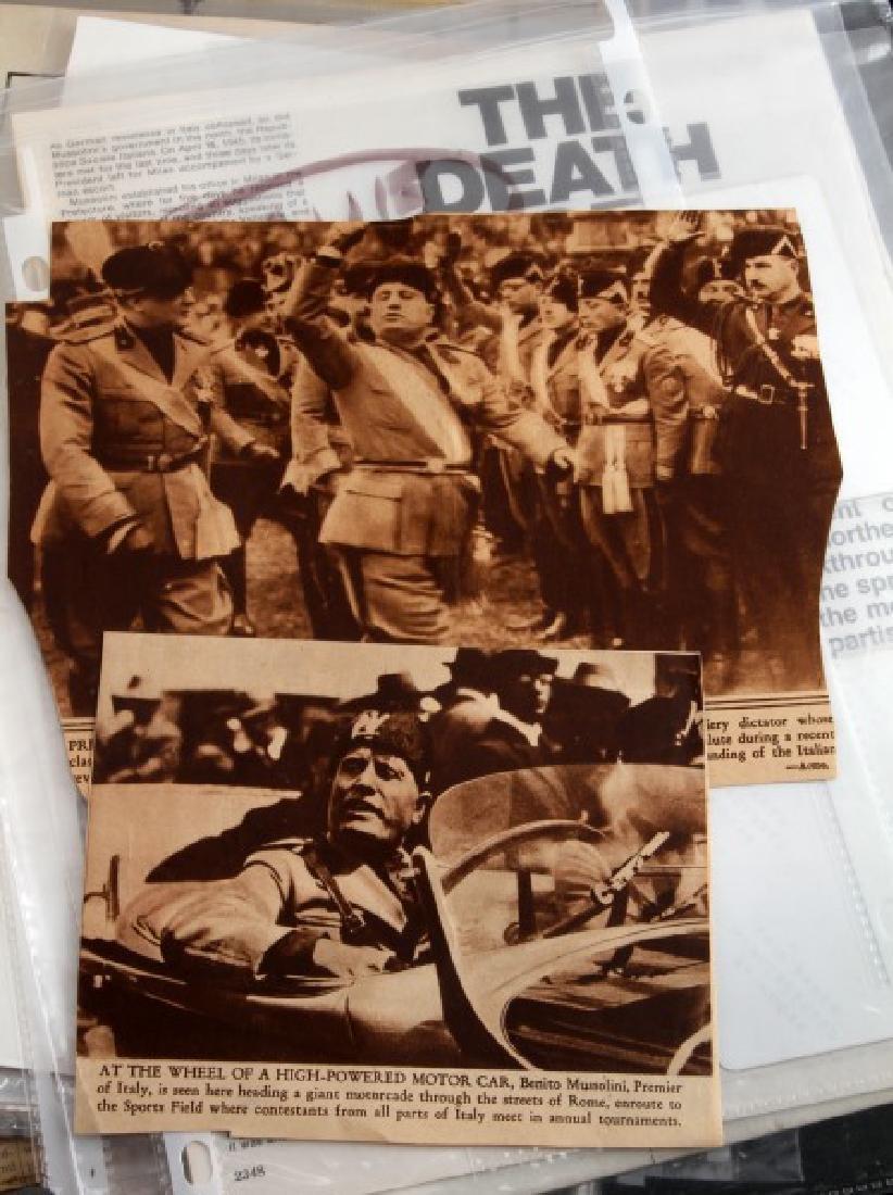 LARGE LOT OF WWII MUSSOLINI DOCUMENTS & EPHEMERA - 4