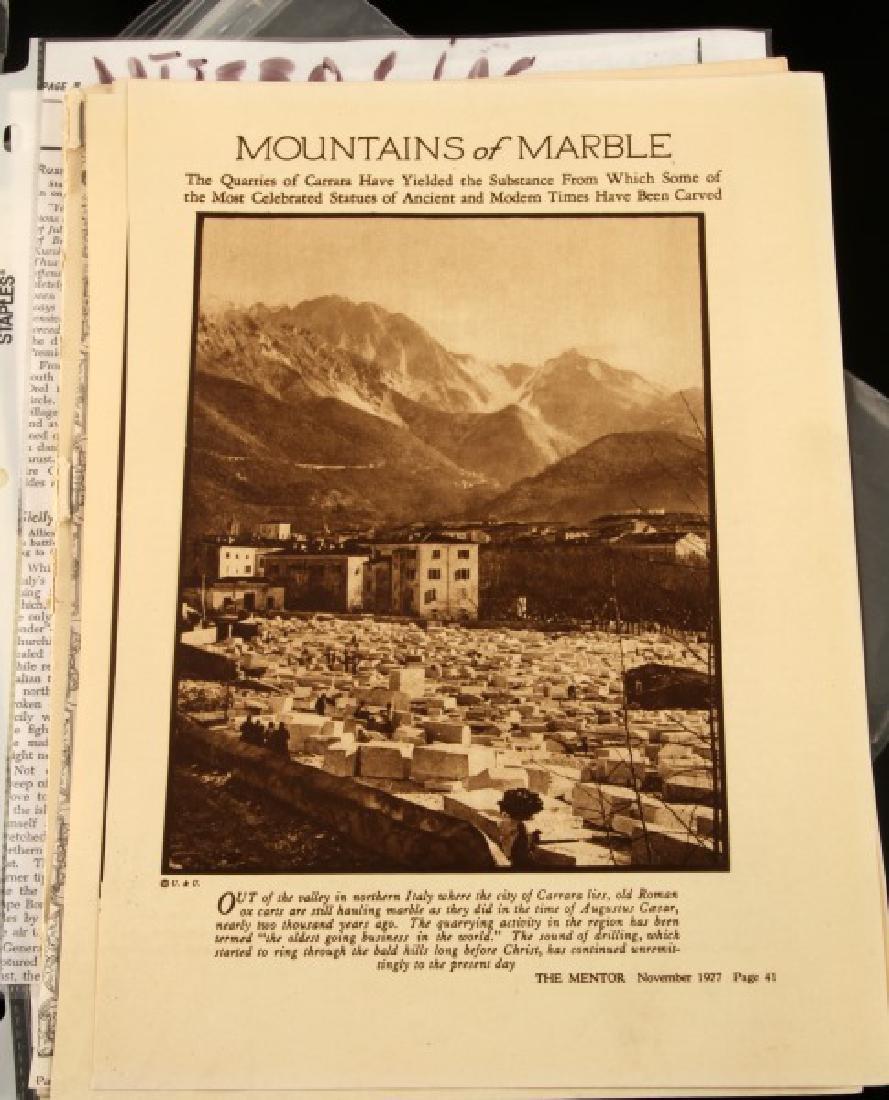LARGE LOT OF WWII MUSSOLINI DOCUMENTS & EPHEMERA - 6