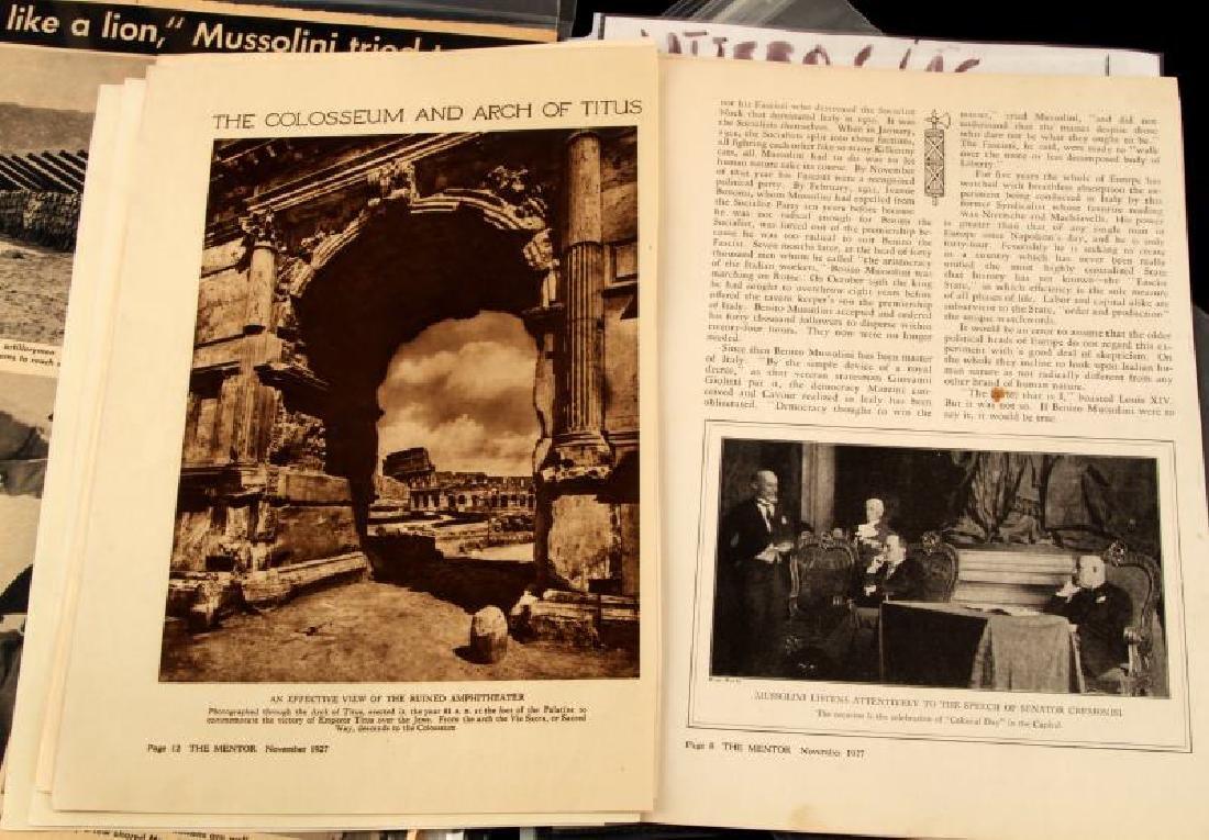 LARGE LOT OF WWII MUSSOLINI DOCUMENTS & EPHEMERA - 7