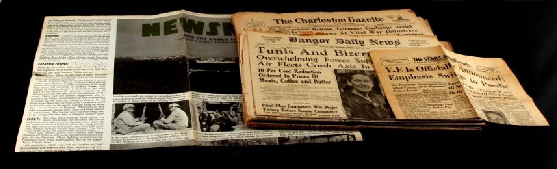 WWII AMERICAN WARTIME NEWSPAPER COLLECTION