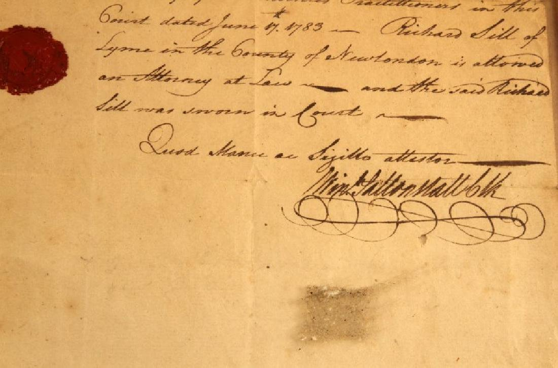 LT RICHARD SILL SIGNED LAW PRACTICE LETTER 1783 - 3