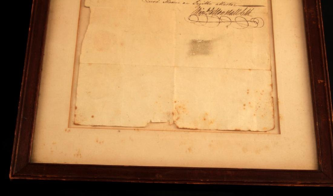 LT RICHARD SILL SIGNED LAW PRACTICE LETTER 1783 - 4