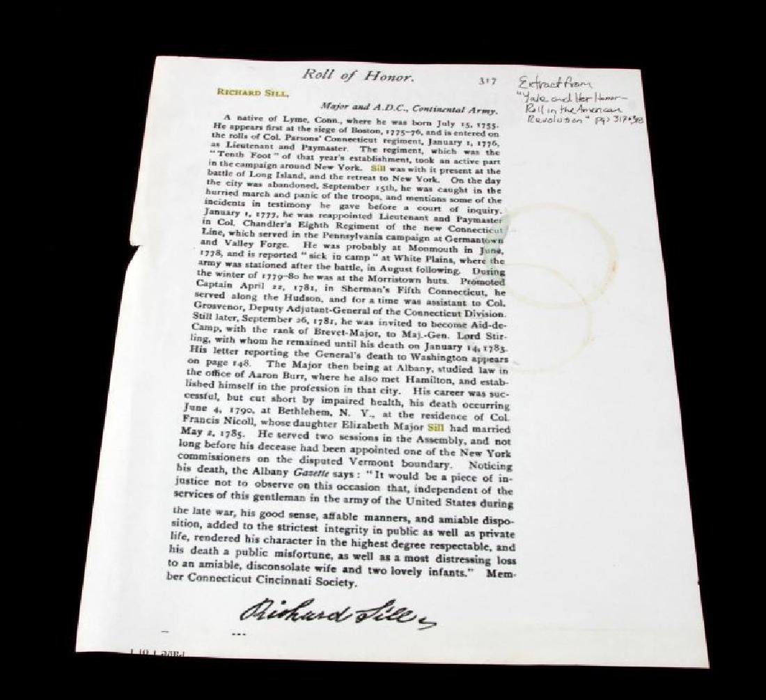 LT RICHARD SILL SIGNED LAW PRACTICE LETTER 1783 - 6