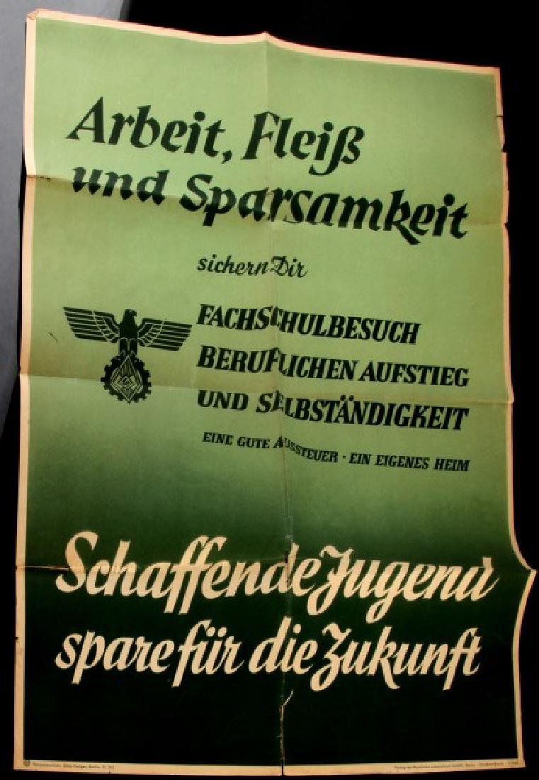 GERMAN WWII HITLER YOUTH JUGEND PROPAGANDA POSTER