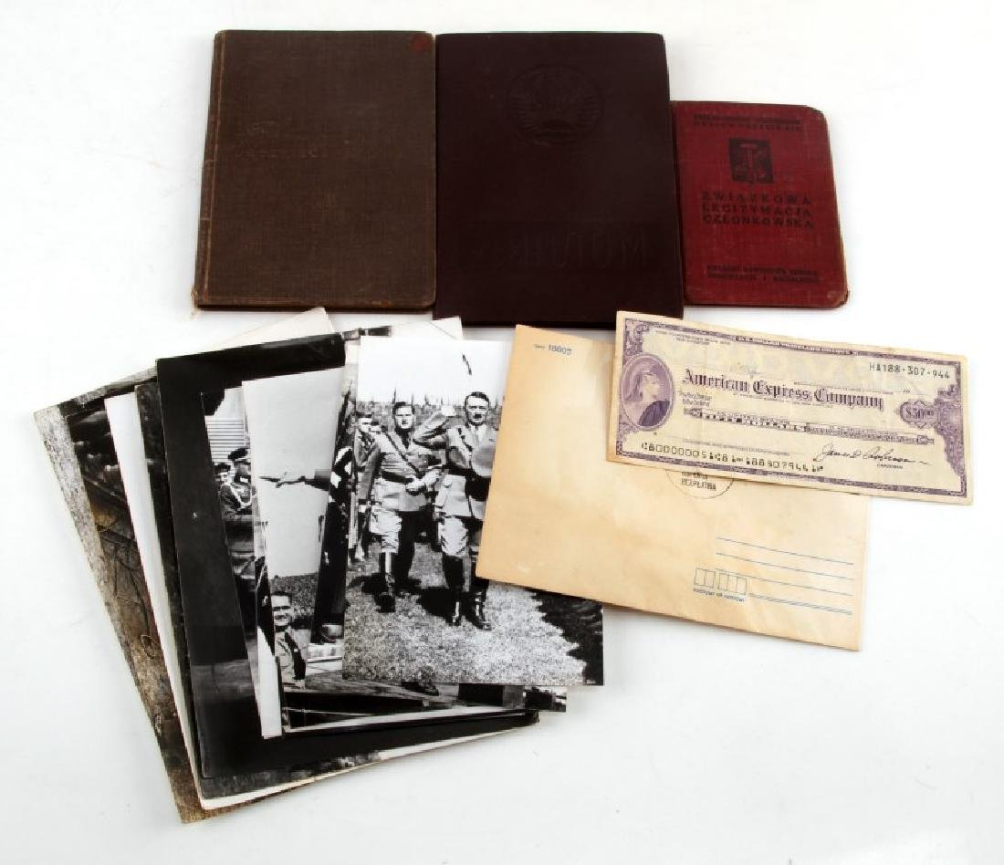 GERMAN WWII HITLER PHOTOGRAPHS & RUSSIAN DOCUMENTS
