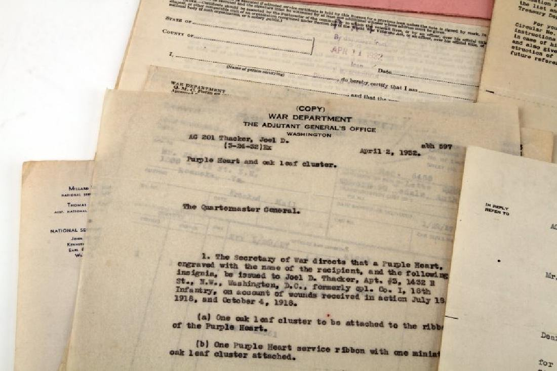 WWII TO WWII 2 SOLDIERS RECORDS USMC ARMY CITATION - 7