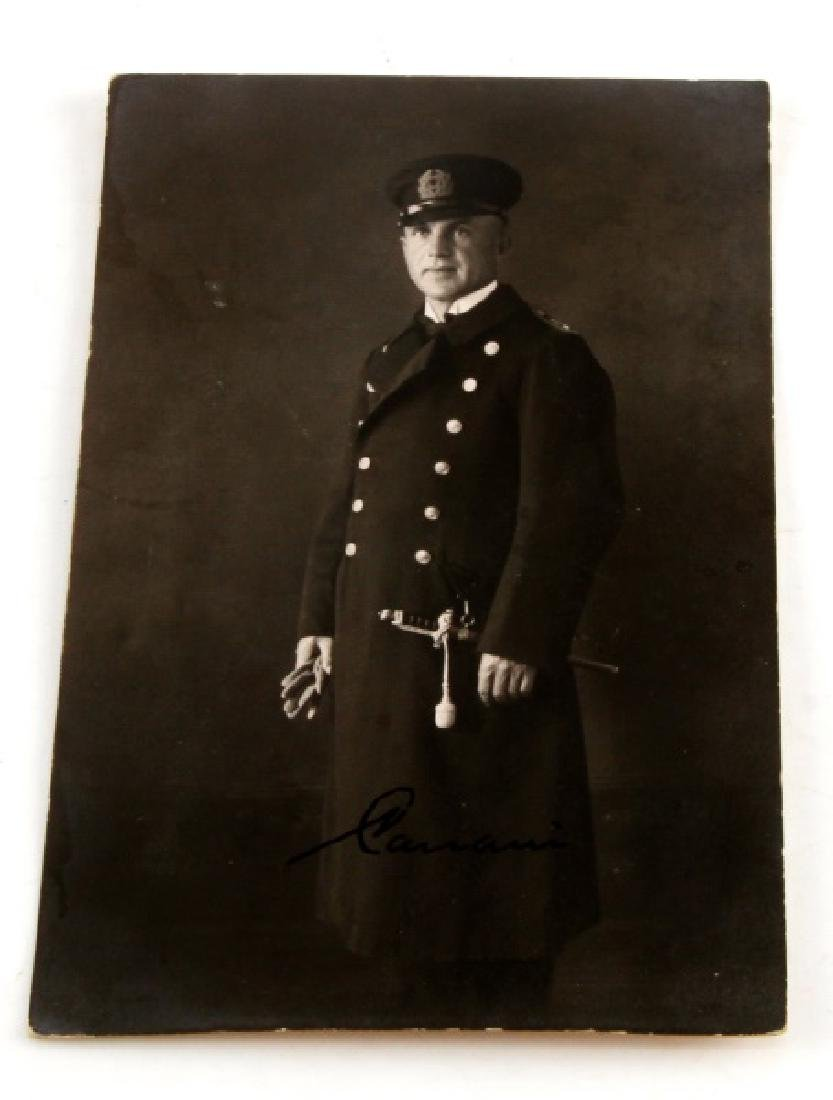 AUTOGRAPHED PHOTO ADMIRAL CANARIS GERMAN WWII