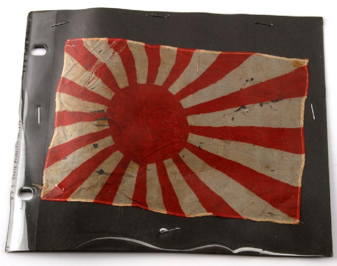 WWII SMALL JAPANESE IMPERIAL NAVY RISING SUN FLAG