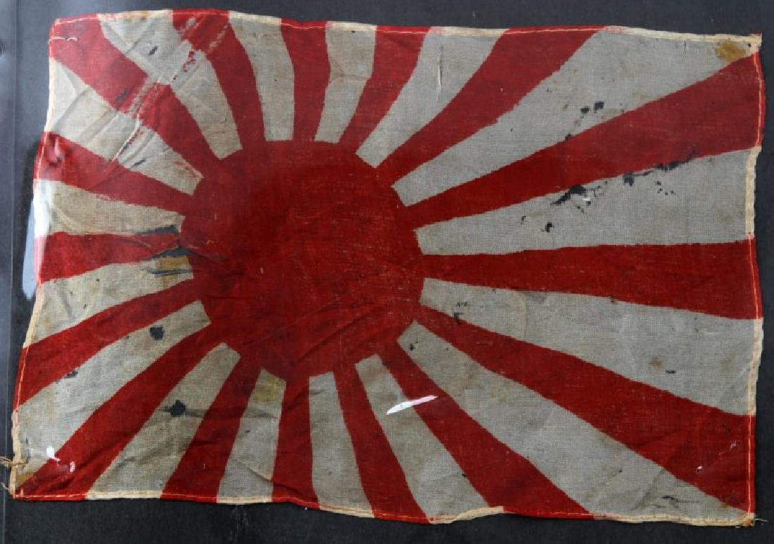 WWII SMALL JAPANESE IMPERIAL NAVY RISING SUN FLAG - 2