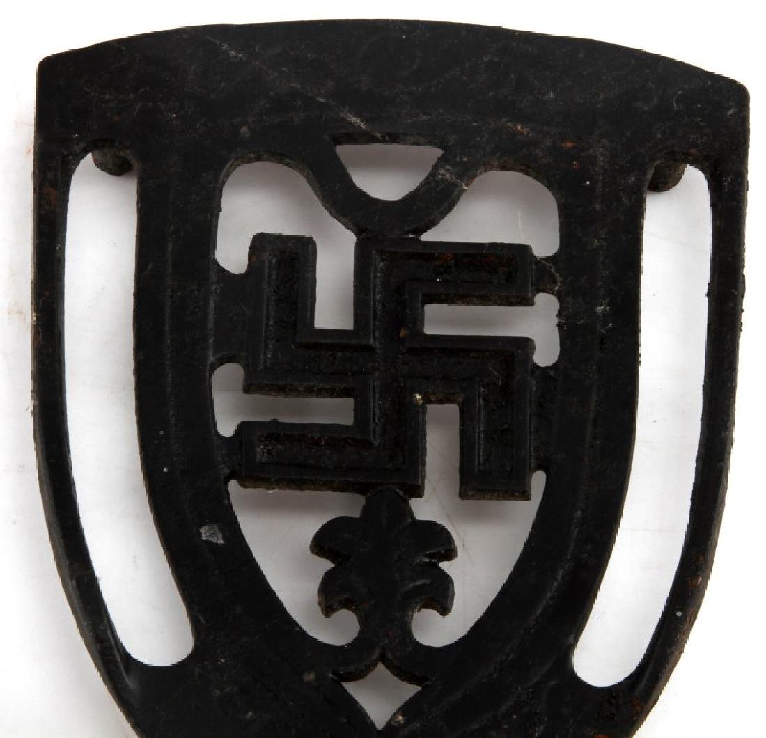 GERMAN WWII SWASTIKA IRONING BOARD IRON TRIVET - 2