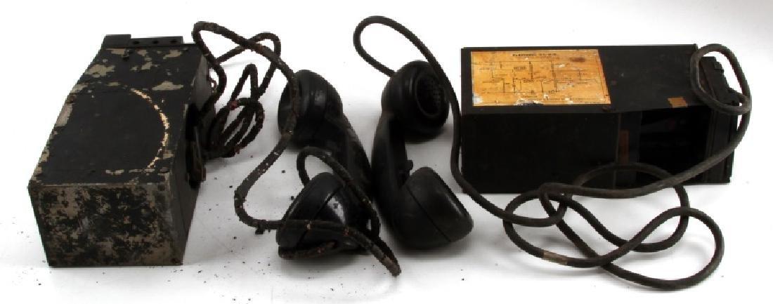 2 WWII EE-8-B FIELD TELEPHONE LOT