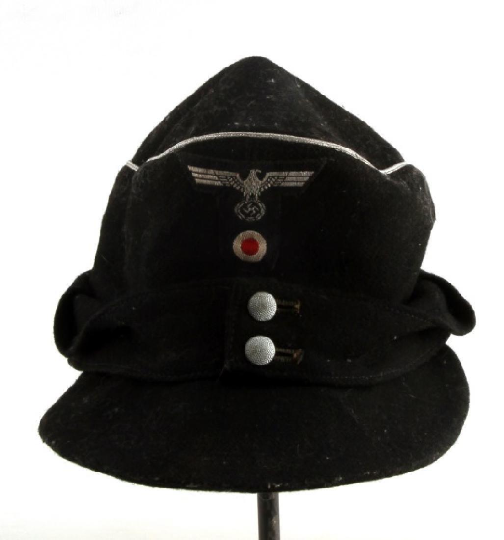 WWII GERMAN THIRD REICH BLACK M43 FIELD CAP