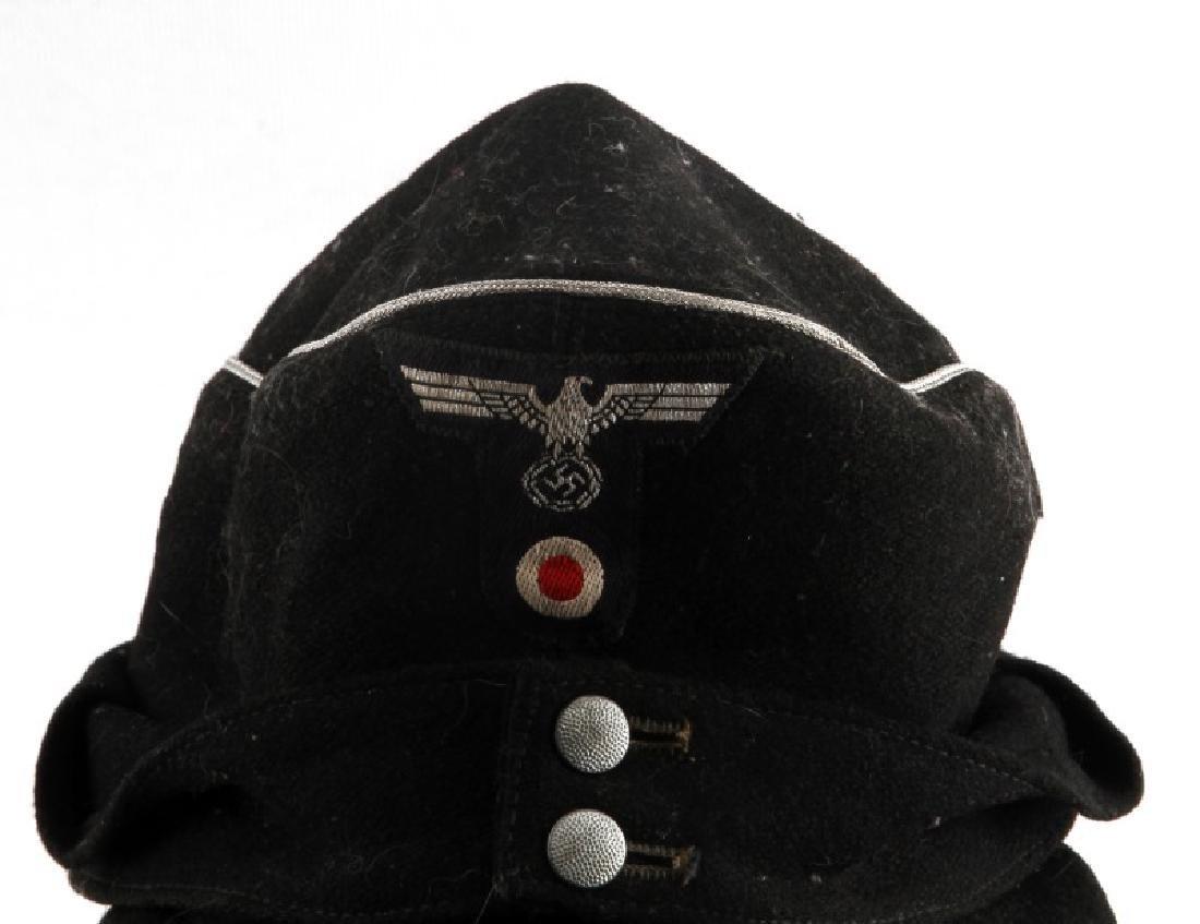 WWII GERMAN THIRD REICH BLACK M43 FIELD CAP - 2