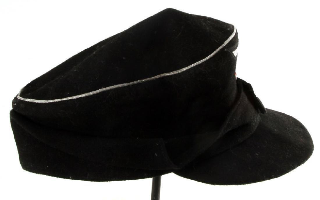 WWII GERMAN THIRD REICH BLACK M43 FIELD CAP - 3