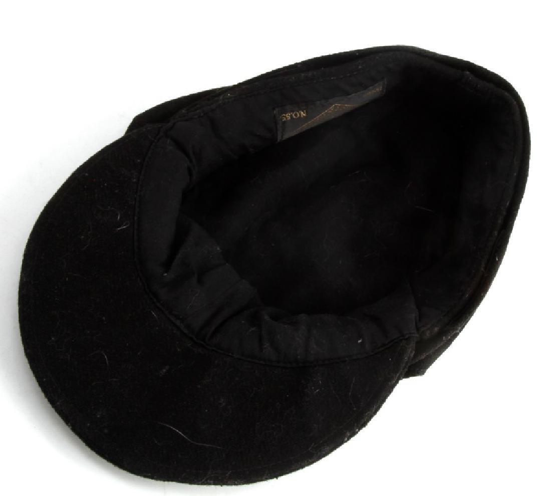 WWII GERMAN THIRD REICH BLACK M43 FIELD CAP - 4