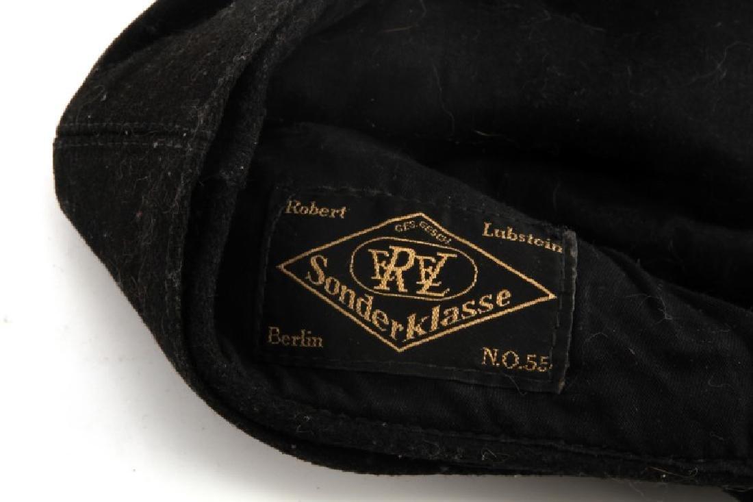 WWII GERMAN THIRD REICH BLACK M43 FIELD CAP - 5