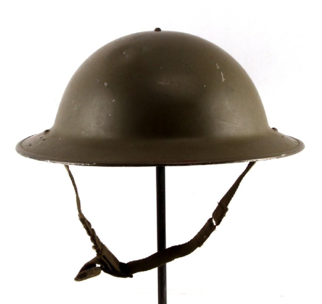 WWI U.S. M1917 INTER WAR MODIFIED BRODIE HELMET