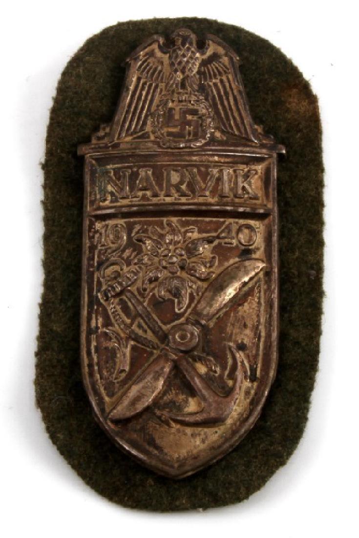 WWII GERMAN THIRD REICH NARVIK CAMPAIGN SHIELD