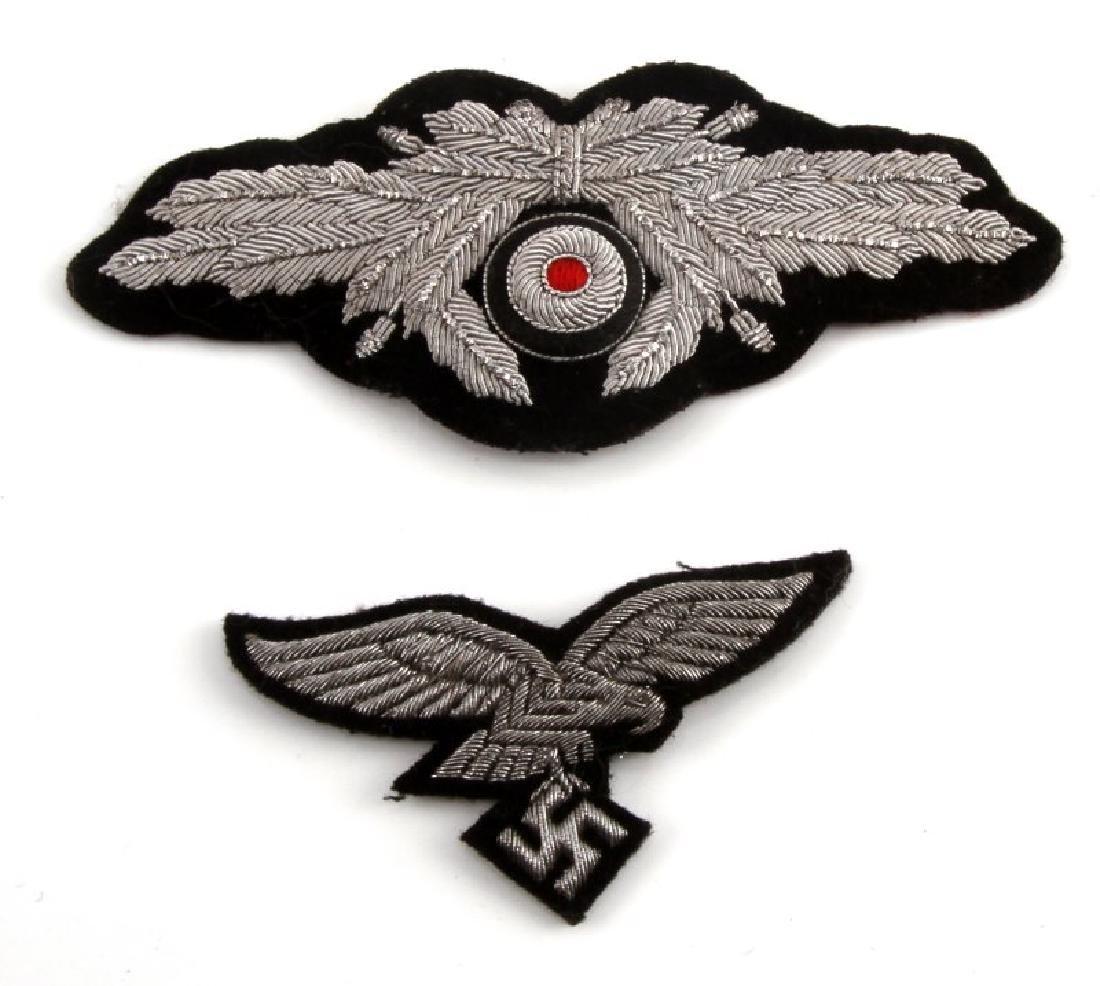 WWII GERMAN THIRD REICH LUFTWAFFE PEAKED CAP BADGE