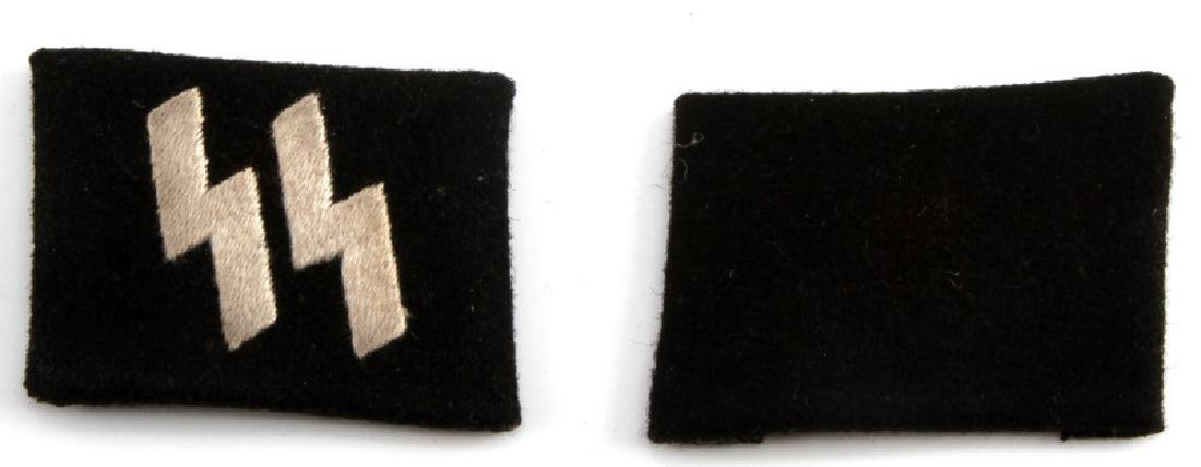 WWII GERMAN THIRD REICH WAFFEN SS COLLAR TAB SET