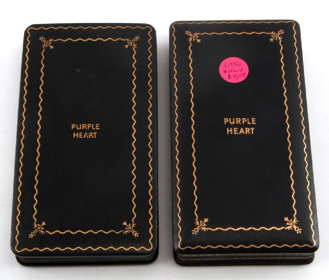 PAIR OF ORIGINAL ISSUE PURPLE HEART MEDAL BOXES