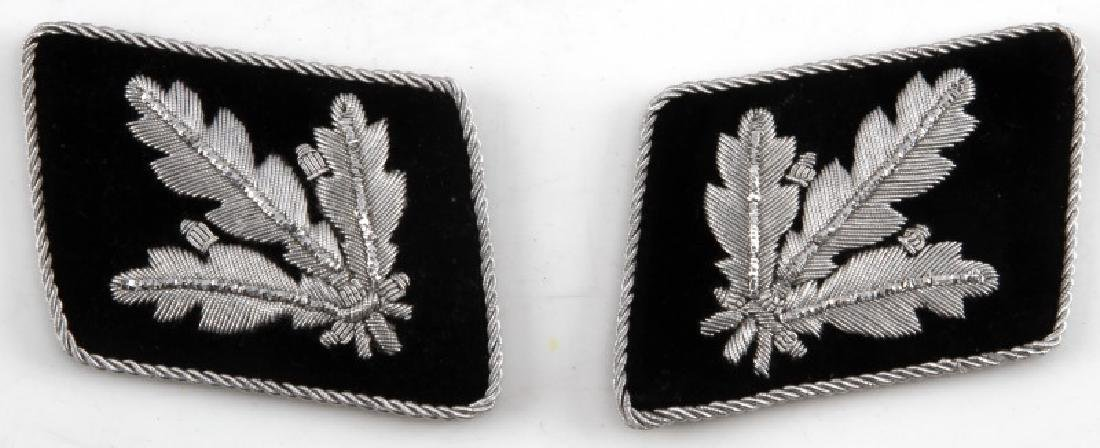GERMAN WWII SS GRUPPENFUHRER REPRO COLLAR TABS
