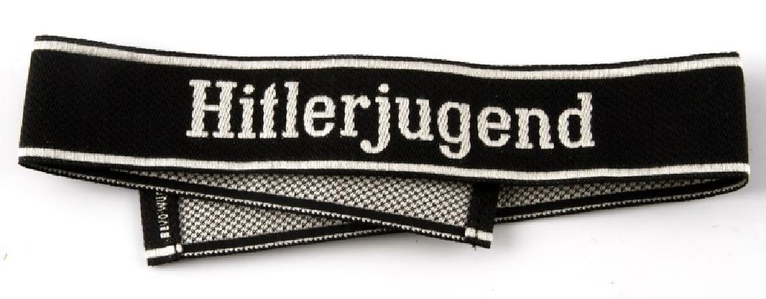 WWII GERMAN THIRD REICH WAFFEN SS HJ EM CUFF TITLE