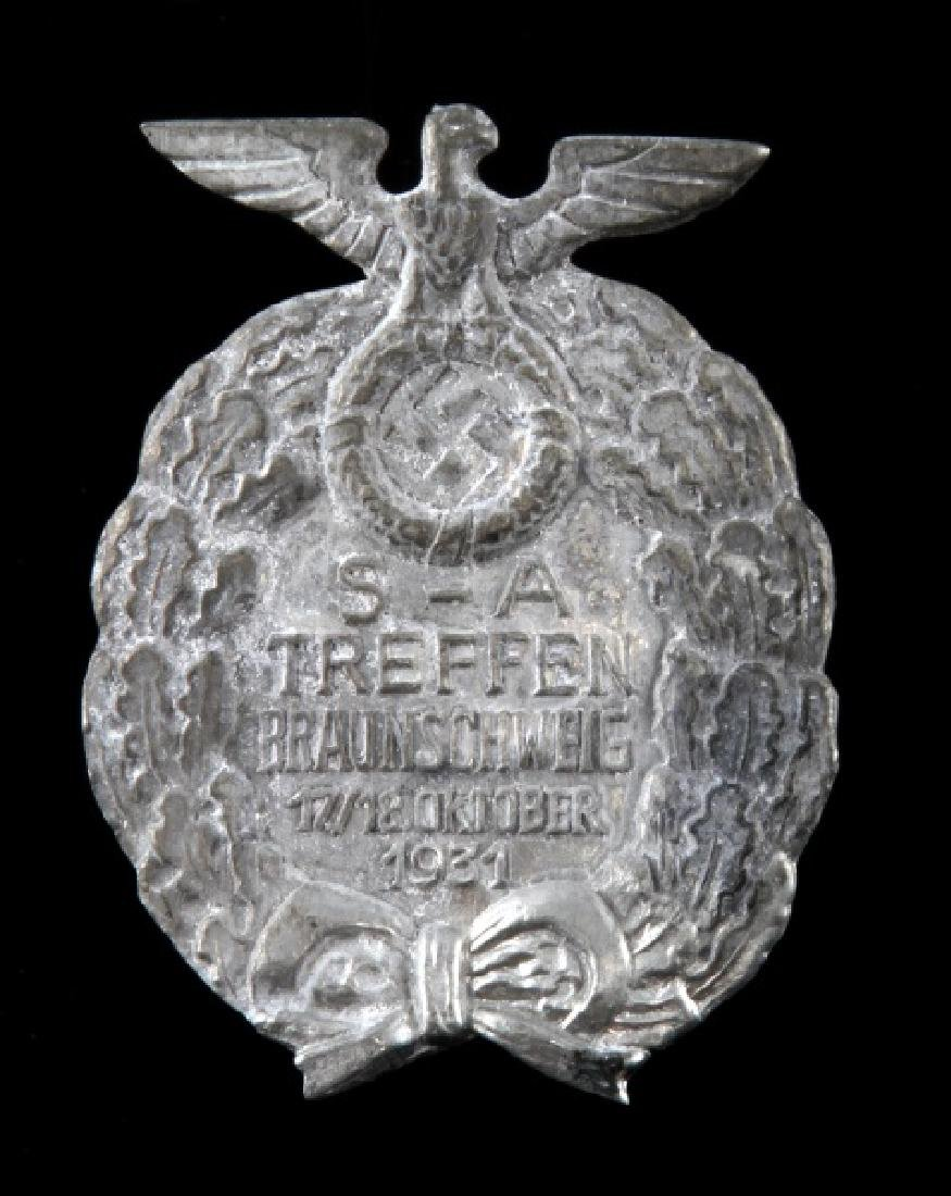 GERMAN WWII THIRD REICH 1931 SA TREFFEN BADGE