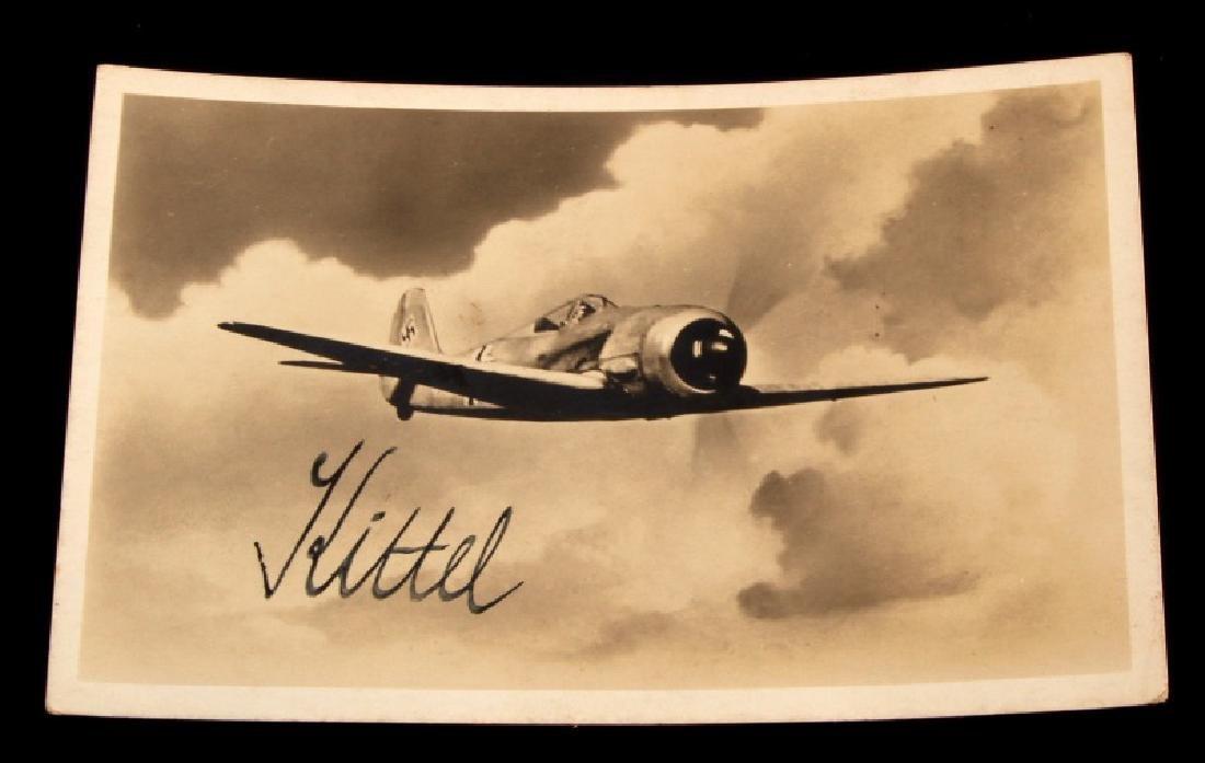 WWII GERMAN THIRD REICH LUFTWAFFE ACE KITTEL PHOTO
